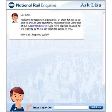 Virtual Agent - Lisa in facebook